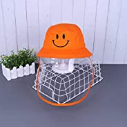 Anti Spitting Protective Kids Hat Face Shield Fisherman Hat Anti Splash Safety Droplets Hat