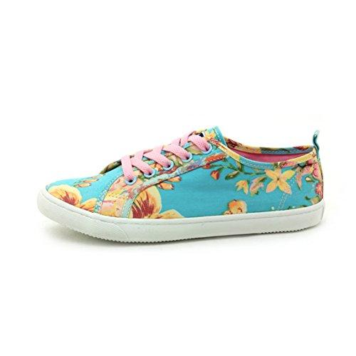 Autunno pizzo scarpe di tela con piatto/Scarpa che respira/ moda basso top sneakers-A Lunghezza piede=23.3CM(9.2Inch)