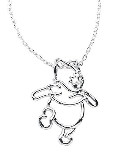 Winnie Pooh Disney by Couture Kingdom Halskette silberfarben (Pooh Stein)