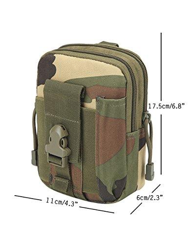 CUKKE Multipurpose Taktische Tasche Gürtel Taille Pack Tasche Military Taille Fanny Pack Telefon Tasche Gadget Geld Tasche Tarnung 4 Tarnung 4