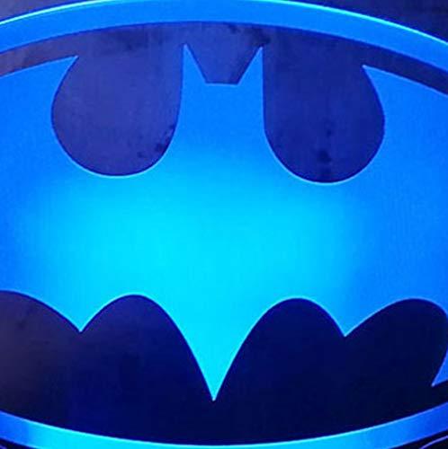 Guo Batman 3D Nachtlicht - Cartoon Nachtlicht - Batman - Kreatives Geschenk - Acrylmaterial - 3D Tischlampe - Beste Wahl Für Freunde - Mehrere Farben Können Ihre Schönheit Aufhellen -