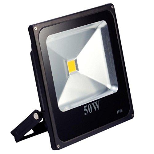 LED Strahler, LED Fluter, SLIM 50 Watt Kaltweiss 6000K LED Flutlicht, 50W 4500 Lumen Ersetzt 500 Watt, 220-240V, LumenTEC (50W Kaltweiss)