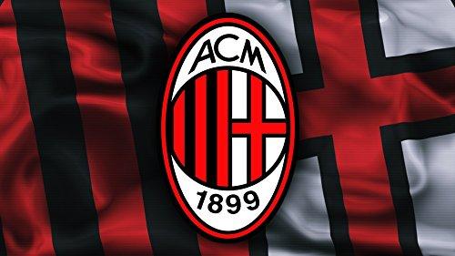 CIALDA in ostia MILAN form. A4 personalizzata decorazione torta squadra di calcio