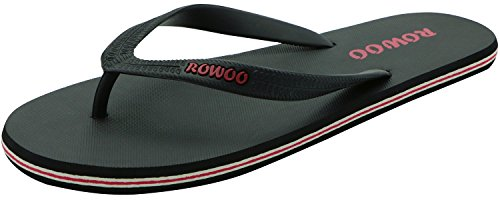 Rowoo Men's Beach Flat Rubber Sandals Flip Flops (10 UK / 44...