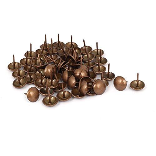 sourcingmap 60Stück 16x20mm Eisen Rund Kuppel Kopf Polsterung Daumen Heftzwecke Nagel Kupfer