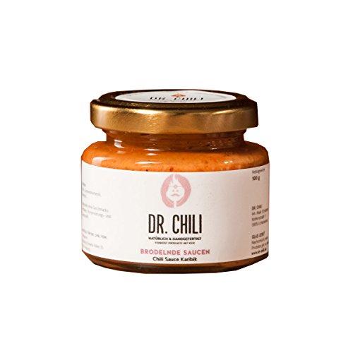 Dr. Chili Scharfe Chili Paste Karibik Hot Sauce (125ml) Soße aus Habanero Chilli sehr scharf - für BBQ Burger Salsa Currywurst Barbecue