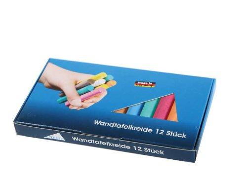 Preisvergleich Produktbild Tafelkreide, bunt weiß, 12 Stück pro Packung (Bürobedarf Artikel)