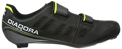 Diadora Phantom Ii, Chaussures de Vélo de Route Mixte Adulte noir (black/white/yellow fluo3740)