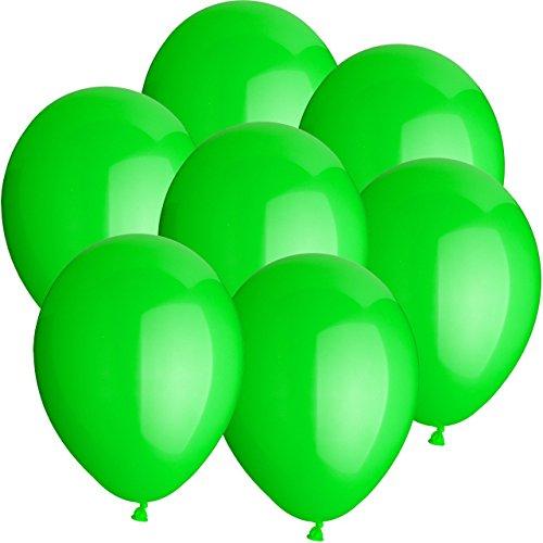 10x Rundballons GRÜN Ø25cm + Geschenkkarte + PORTOFREI mgl. + Helium & Ballongas geeignet. High...