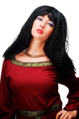 Wig me up Karneval Fasching Perücke Schwarz Karibik Latina rassig sexy Kinks lang 66037-103