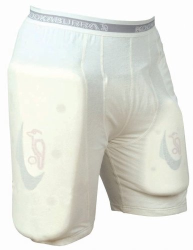 Kookaburra Schützende Cricket-Hose, kurze Hose, mit Batting-Schutz, neutral Neutral - White Padding L
