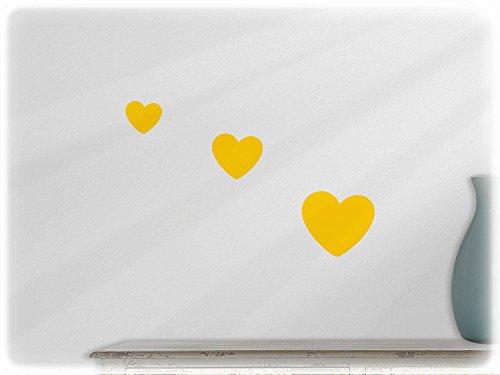 wandfabrik-gmbh-adhesivo-para-pared-3-schone-corazones-hz2-amarillo