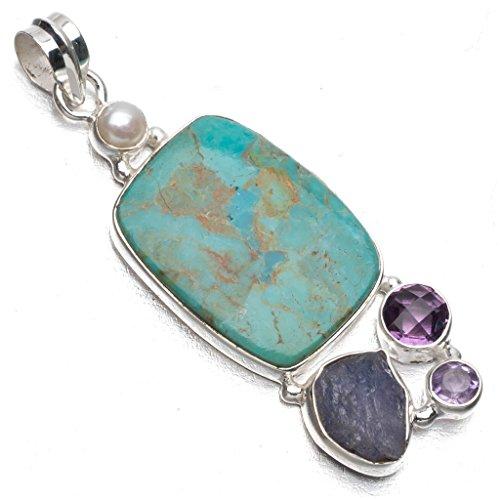 stargemstm-natural-caribbean-larimaramethyst-and-drusy-druzy-punk-style-925-sterling-silver-pendant-