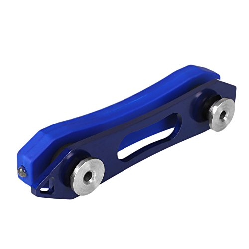 Beautyrain 1 pc Porte-clés Porte-Organisateur Lampe de poche LED en acier inoxydable Ouvre-bouteille Trousse d'outils de poche pour trousseau de voyage