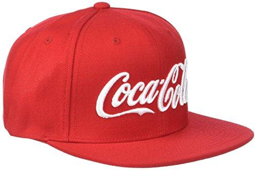 Imagen de merchcode coca cola logo snapback  unisex  de béisbol para hombre y mujer, unicolor, color rojo, tamaño one size