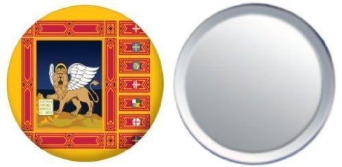 Miroir insigne de bouton Italie Veneto drapeau - 58mm