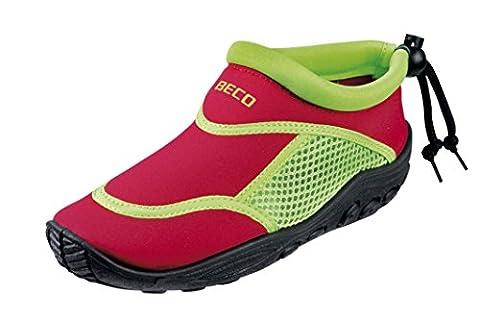 BECO Badeschuhe / Surfschuhe für Kinder rot/grün