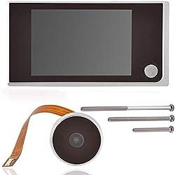 8,9 cm Digital TFT LCD vidéo Sonnette Peephole Viewer Camera, Zerone HD de sécurité pour porte Peephole Viewer Grand Angle de 120 ° Home Système de caméra moniteur