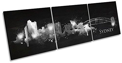 Canvas Geeks Sydney Abstrakte Skyline Wandbild, 3 Stück, 150cm Wide x 50cm high -