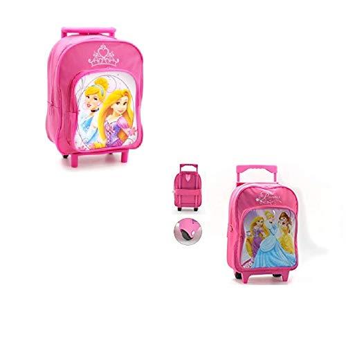 takestop Zainetto Zaino Trolley Principesse Principessa Disney 25x40x20cm Scuola Pranzo Asilo Materna per Bambini Bambine Bambina Bimba
