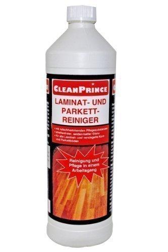 1 Liter CleanPrince Laminat- und Parkett-Reiniger 1000 ml Kork rutschhemmend Glanzboden Laminatreiniger Parkettreiniger Parkettpflege Laminatpflege Reiniger reinigen Laminat Parkett Reinigung