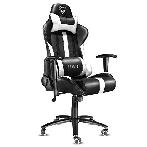 Diablo X-Player Siège Gaming, Fauteuil Gamer, Chaise de Bureau avec accoudoirs