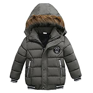 d1ea0636ed2d Janly Coats for 1-5 Years Old Baby Jacket for Boys Thick Hooded ...