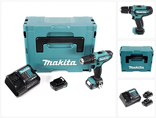 Preisvergleich Produktbild Makita DF 331 DYMJ 10,8 V Li-Ion Akku Bohrschrauber im Makpac + 2x Makita BL 1020 B 10,8 V 2,0 Ah Akku + DC 10 SA 10,8 V Schnellladegerät