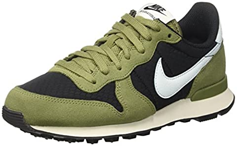 Nike Damen Wmns Internationalist Low-Top, Schwarz (Black/Glacier Blue/Palm Green/Sail), 40.5 (Scarpa Coat)