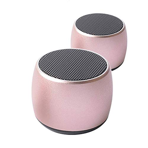 Hellodigi NO 1 Magnetic Wireless Bluetooth Speaker,One Pair Of Bass Mini Wireless 4.2 Bluetooth Speaker 3D stereo surround High Quality Sound(Rose Gold) Wireless-surround-sound-stereo