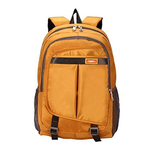 Baymate College Laptop Rucksack Leichtgewicht Rucksack Wanderrucksack Schulrucksack Freizeit Bag Sportrucksack für Männer und Frauen Gold