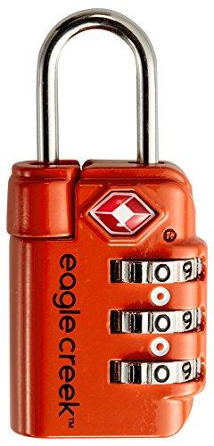 Eagle Creek Travel Safe Tsa Lock Flame Orange Lucchetto per Valigie, 6 cm, Arancione