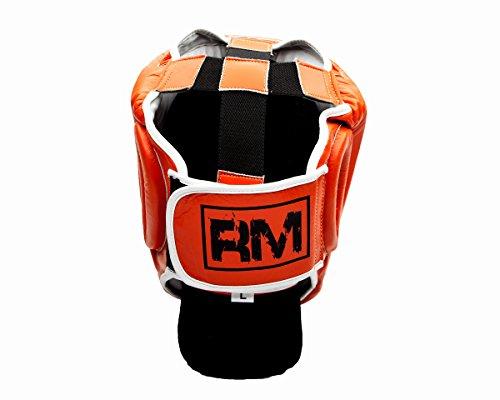 UK Ringmaster Boxen Kopfschutz Echtleder orange Abbildung 3