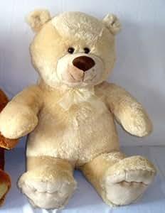 Riesen Teddy Teddybär mit Masche 100 cm groß sehr weich beige