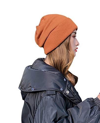 RIRUI Sombrero Mezcla De Lana De Las Mujeres Proteger El Oido Estilo Casual Deportes Al Aire Libre La Moda,Orange,OneSize