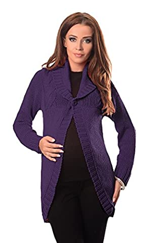 Purpless Maternity Cardigan Sweater 9004 (8/10, Dark Violet)