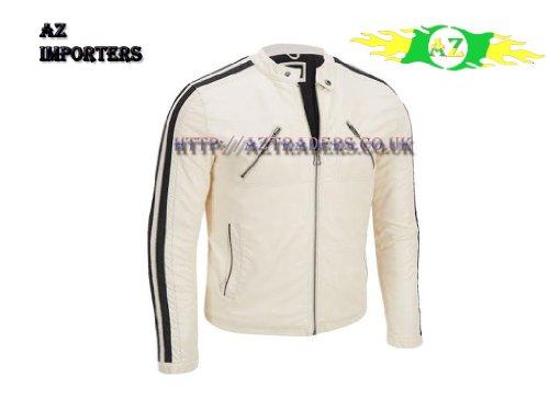 AZ Hombre Aaron Paul Need For Speed Tobey Marshall chaqueta blanco/negro en  Premium Calidad de cuero ...