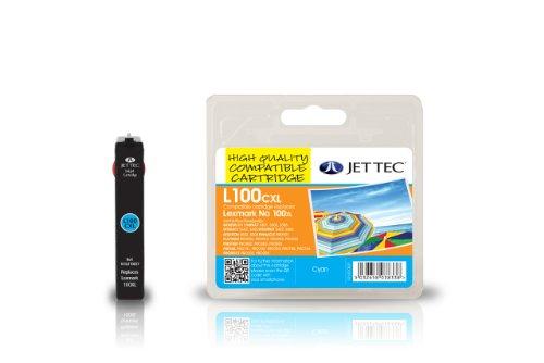 Jet Tec 14N1069E Cartouche jet d'encre compatible pour Lexmark 100XL 14N1069E Haute Capacité Cyan