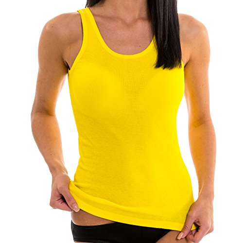 terhemd aus Reiner Baumwolle, Größe:40/42 (M), Farbe:California gelb ()
