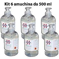 CubeX Professional amuchina Gel de limpieza manos, 500ML desinfectante unidades.