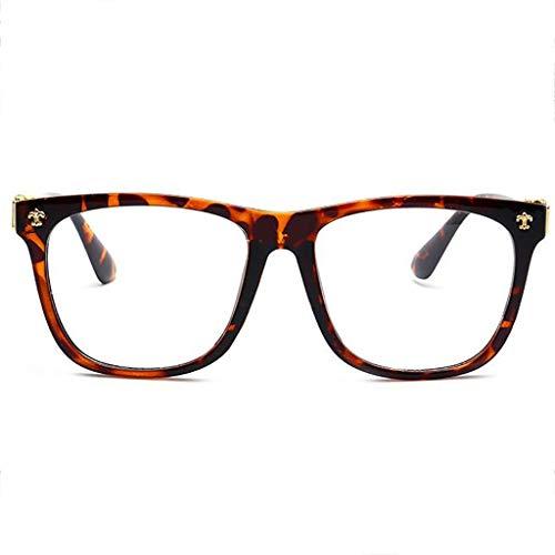 YHDD Strahlungssichere Brille Herren großen schwarzen Rahmen Retro-Star-Modelle Myopie Anti-Blaulicht Keine Augen Augen weiblichen flachen Brille (Farbe : D)