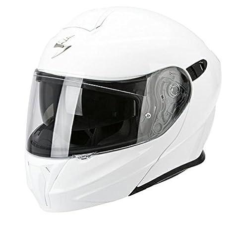 Casque de moto blanc SCORPION EXO 920 Gloss