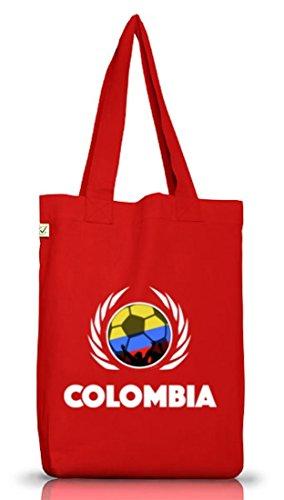 Colombia Fussball WM Fanfest Gruppen Jutebeutel Stoffbeutel Earth Positive Fußball Kolumbien Red
