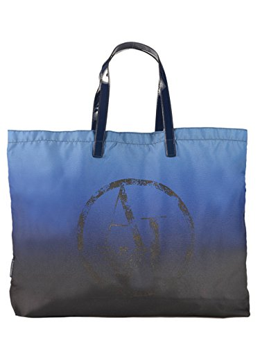 Grand sac shopping pliant ARMANI JEANS bleu
