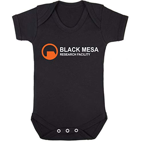 (Cloud City 7 Black Mesa Research Facility Half Life Baby Grow Short Sleeve)