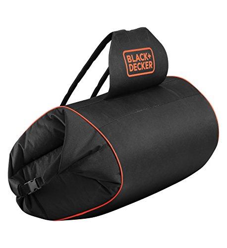 BLACK+DECKER GWBP1-XJ Sac à dos pour Aspirateur-Souffleur-Broyeur - Capacité 70 L - Nylon renforcé - Fermeture à rabats clips, Noir,