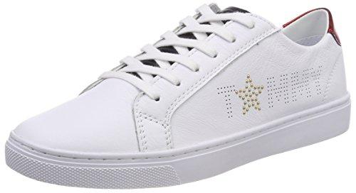 Tommy Hilfiger Damen Tommy Star Metallic Sneaker, Weiß (RWB 020), 40 EU
