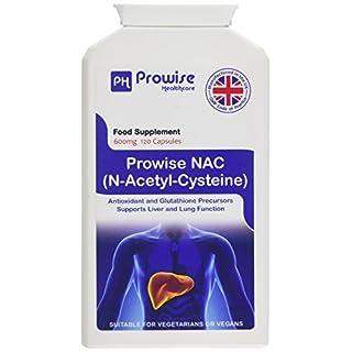 PROWISE NAC N-Acetyl-Cystein 600mg 120 Kapseln UK Made GMP Garantierte Qualität Geeignet für Vegetarier und Veganer