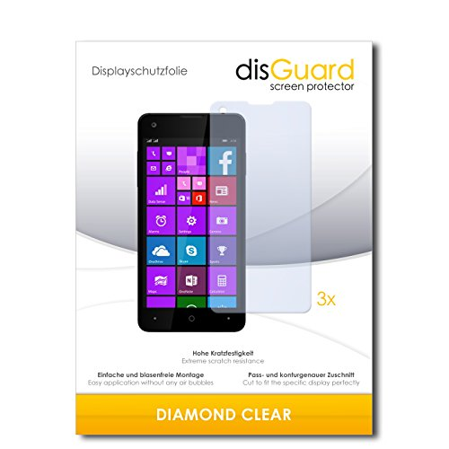 3 x disGuard® Schutzfolie Allview W1i Displayschutz Folie