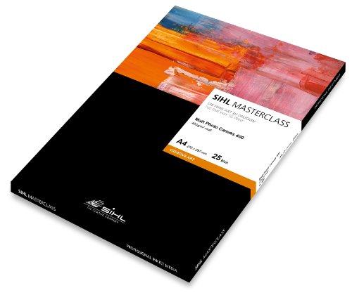 Sihl MASTERCLASS Matt Photo Canvas 4851, 12034010, DIN A4, 340 g/m², Polyester-Baumwollgewebe, 25 Blatt